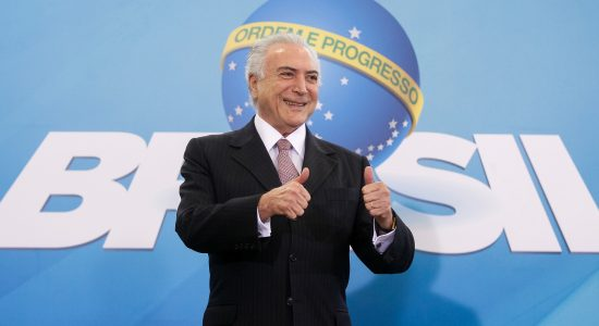 Presidente Michel Temer arriscou o palpite do jogo entre o Brasil e a Bélgica
