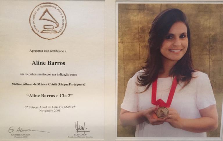 Em 2008, Aline foi indicada om o álbum Aline Barros & Cia 2 na categoria Melhor Álbum de Música Cristã em Língua Portuguesa e com o álbum Refrèscate na categoria Melhor Álbum de Música Cristã em Língua Espanhola. Ela não pode comparecer.