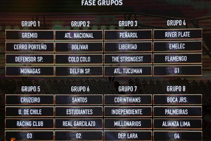 Definidos os grupos da Libertadores de 2018