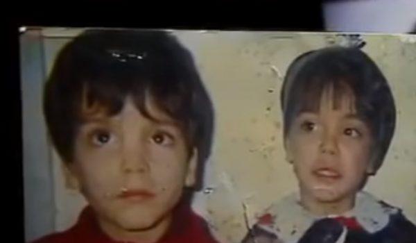 Fotos de Louis e Vera quando crianças