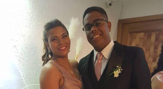 Michelle e Wallace agradeceram a Deus pela saúde do filho