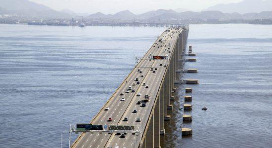 Limite de velocidade na Ponte Rio-Niterói é de 80km/h