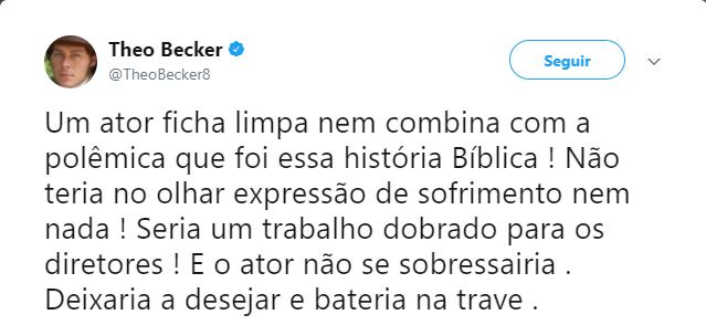 Theo Becker faz campanha para ser o protagonista