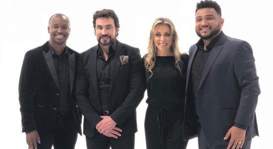 Pe. Fábio de Melo, Eli Soares e Thiaguinho cantam juntos