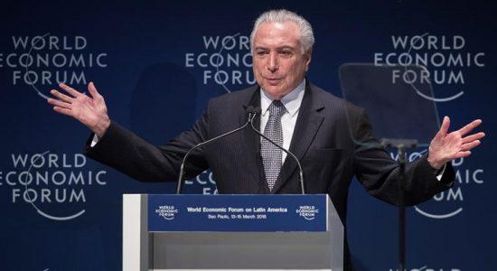 Michel Temer no Fórum Econômico Mundial