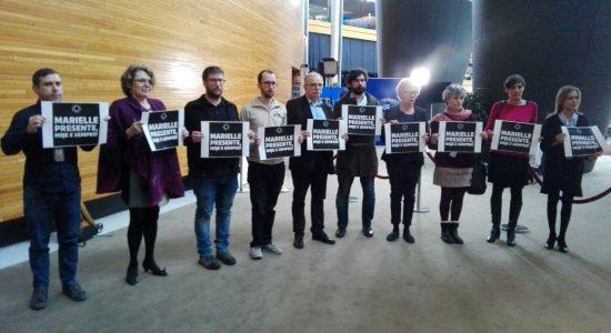 Parlamento Europeu protesta por Marielle