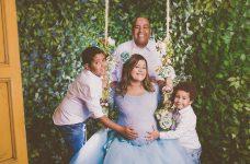 Midian Lima com a família
