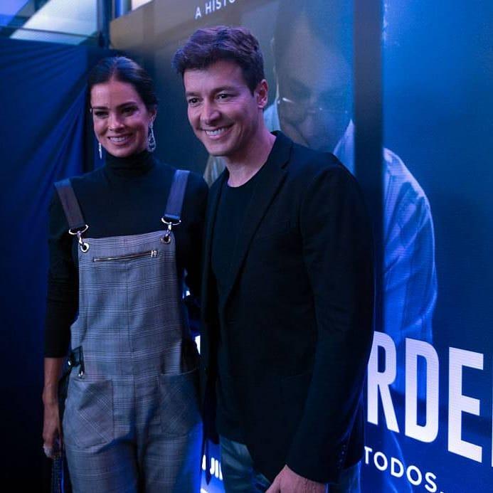 Rodrigo Faro e a esposa