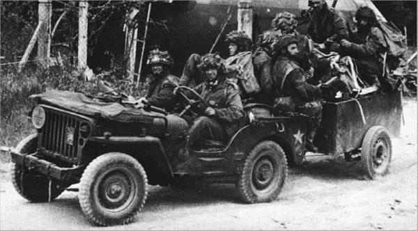 jeep da 6 divisão de paraquedistas americanos