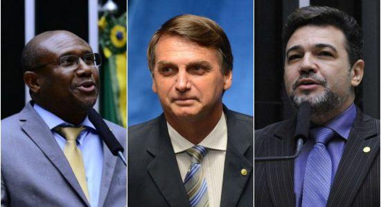 Irmão Lázaro, Jair Bolsonaro e Marco Feliciano