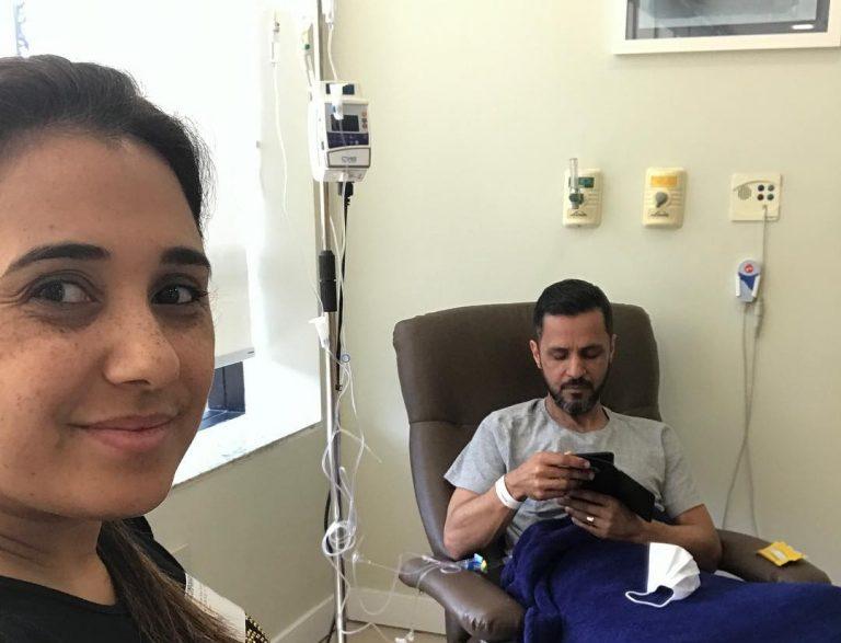 Danielle Cristina fala que o marido está no fim da quimioterapia