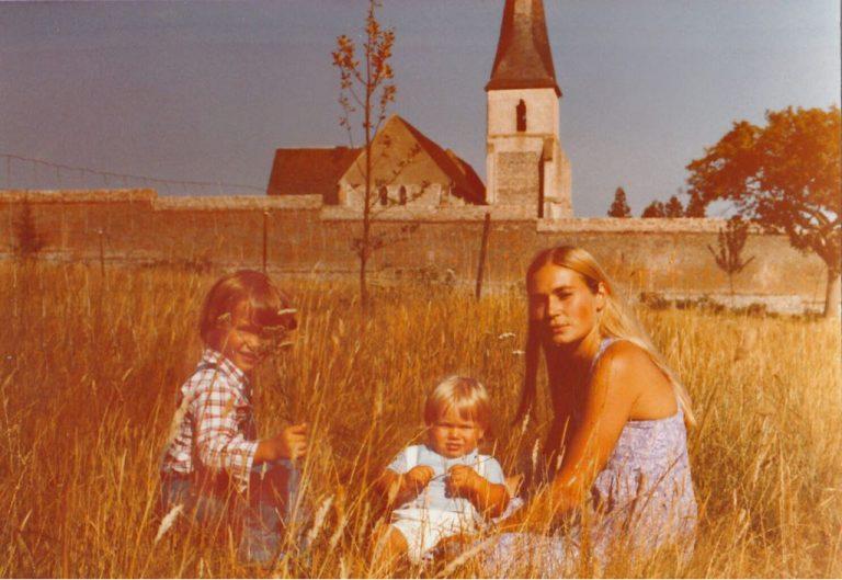 Chris Durán com a mãe, Maribel