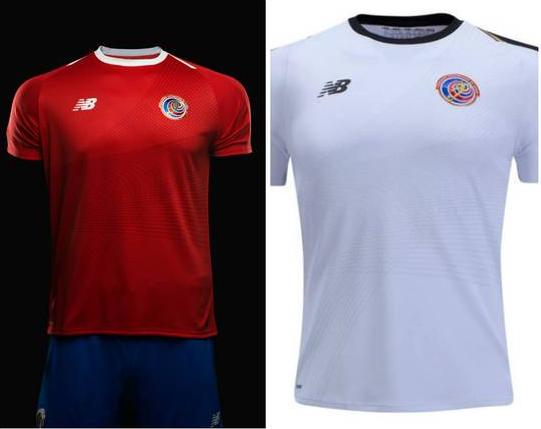 Camisa oficial e de reserva da seleção da Costa Rica