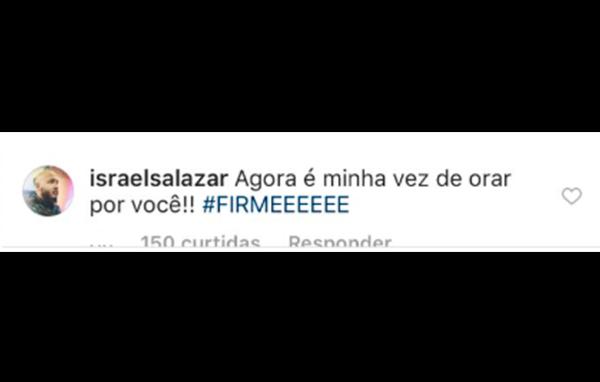 Mensagem do cantor Israel Salazar
