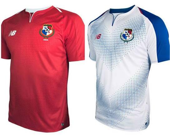 Camisa oficial e de reserva da seleção do Panamá