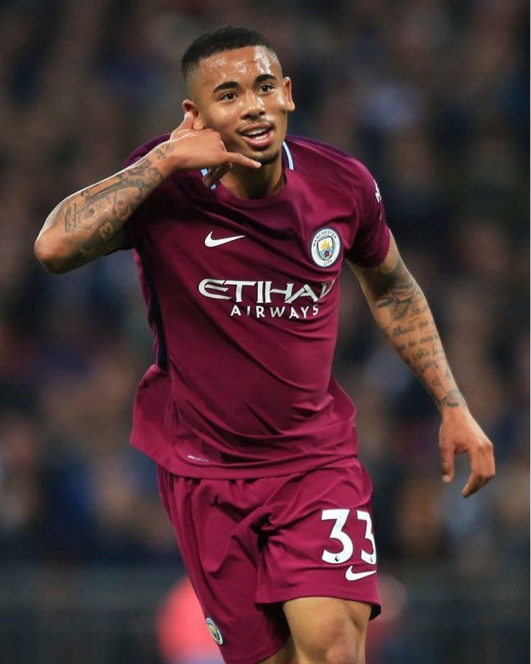 Atacante Gabriel Jesus do Manchester City