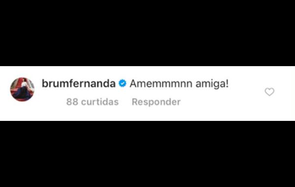 Mensagem da cantora Fernanda Brum