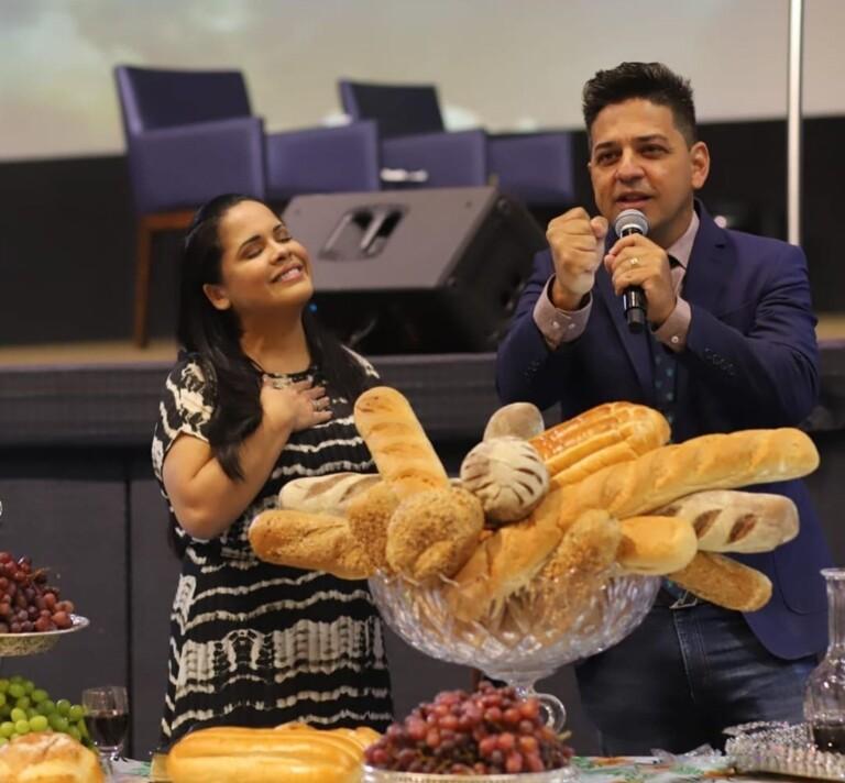 Cassiane e o marido Jairo Manhães
