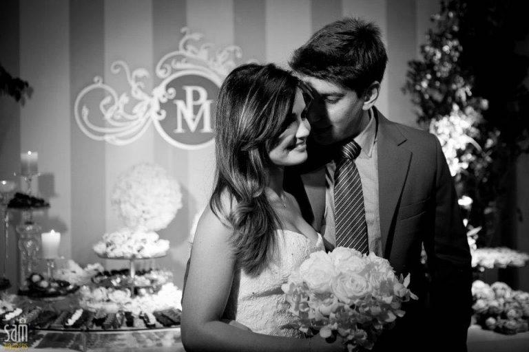 Pamela e o marido Márcio Carvalho