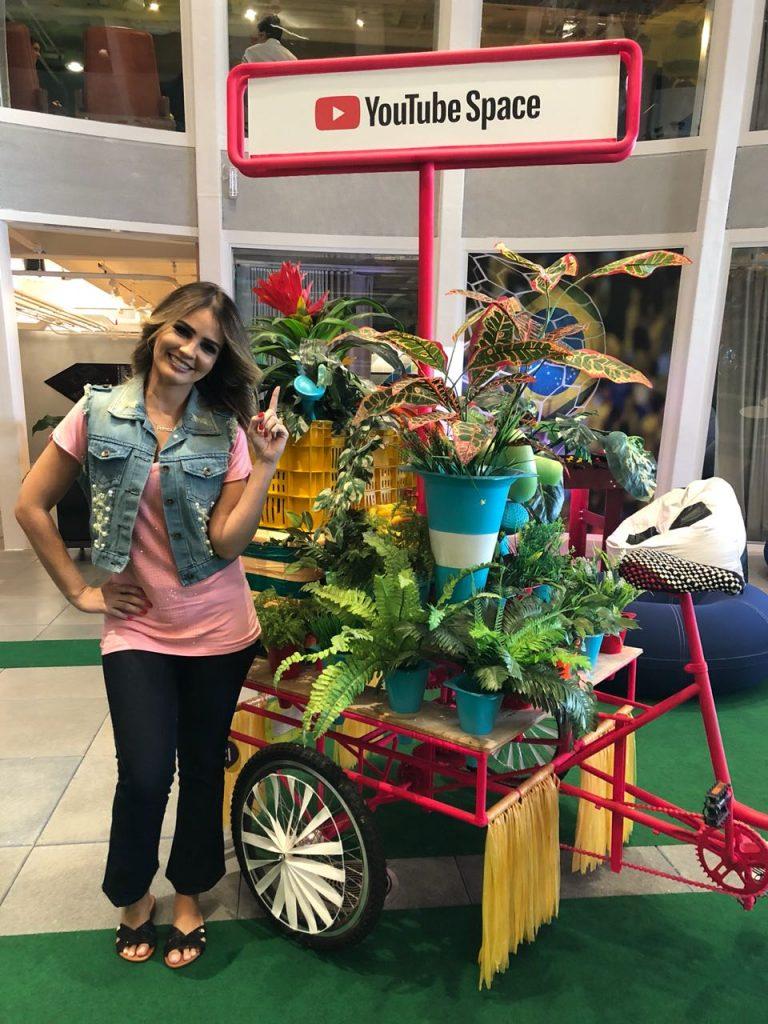 Pamela no YouTube Space do Rio de Janeiro