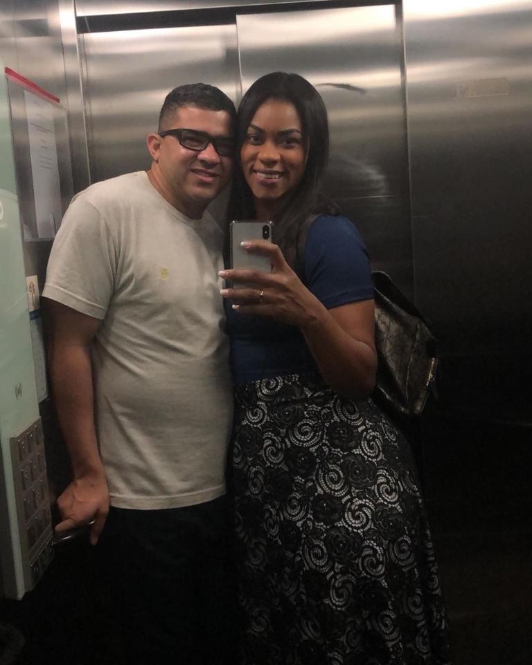 Elaine Martins e Oseas se conheceram quando ela estava evangelizando em um baile funk