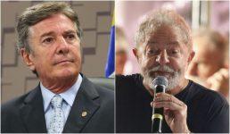 Collor mostra apoio ao ex-presidente Lula