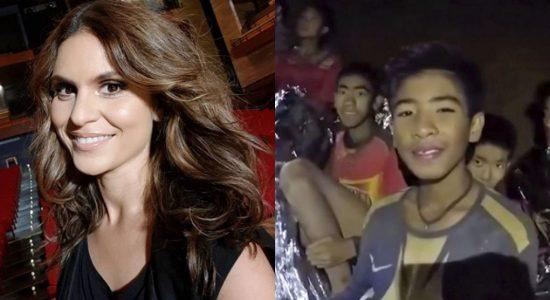 Aline Barros fez post sobre resgate na Tailândia