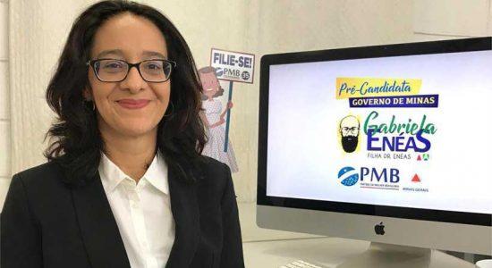 A candidata Gabriela Enéas