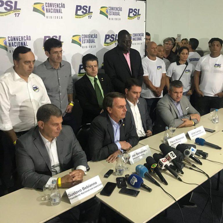 Jair Bolsonaro foi escolhido o candidato do PSL à Presidência da República