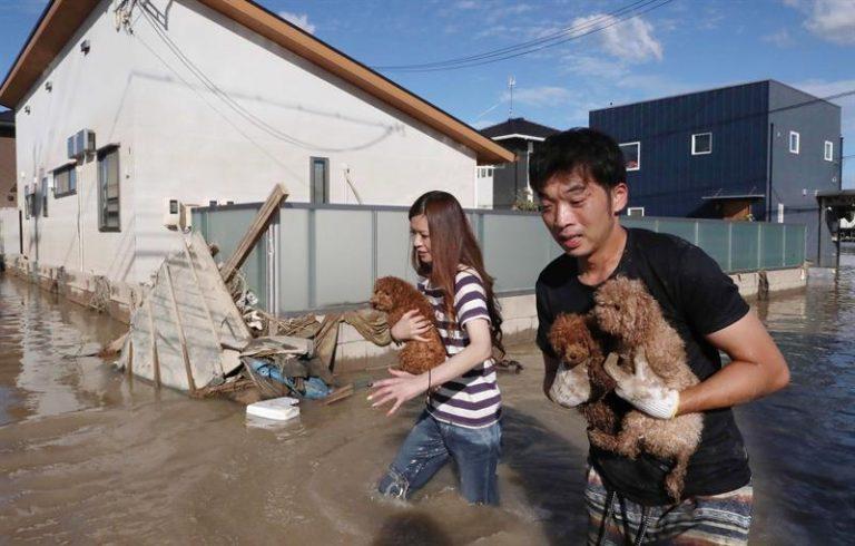 Chuvas intensas já provocaram diversas mortes no Japão