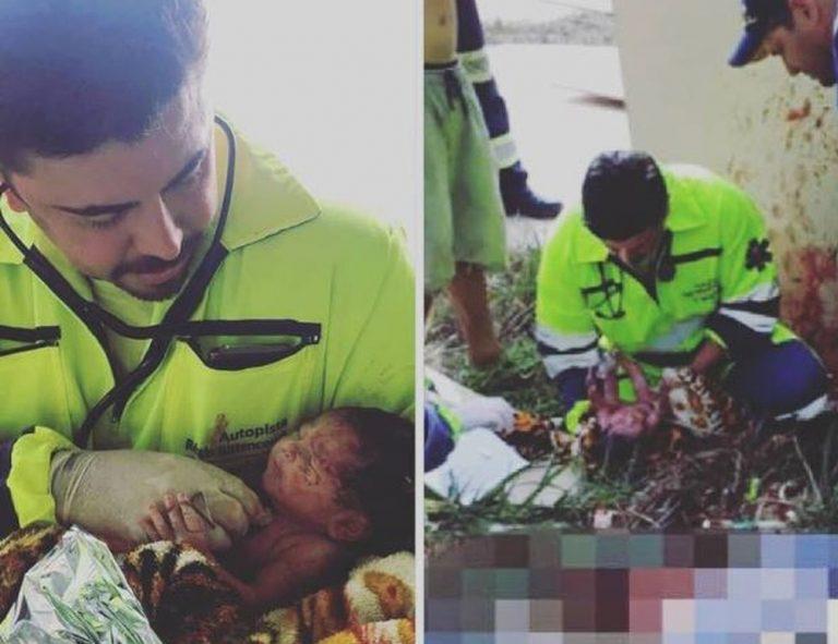 Criança nasceu sem auxílio dos médicos