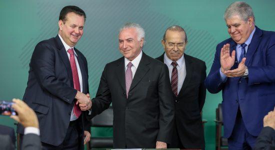 Presidente Michel Temer sanciona a lei sobre proteção de dados