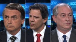 Jair Bolsonaro, Fernando Haddad e Ciro Gomes