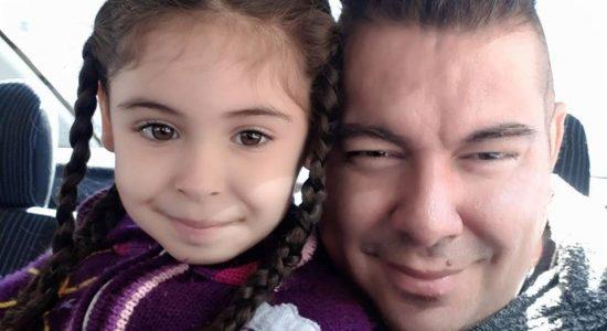 Leoni Marinho e a filha