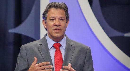 O candidato do PT, Fernando Haddad