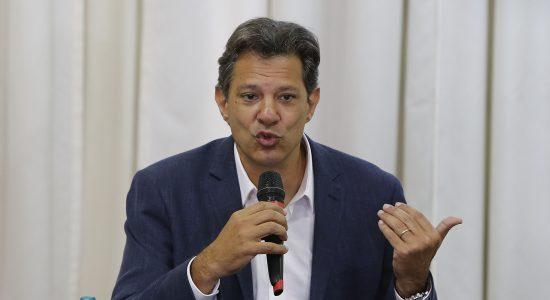 O candidato Fernando Haddad