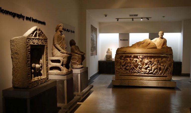 Museu Nacional de Damasco exibiu parte de seu acervo durante reabertura para visitantes