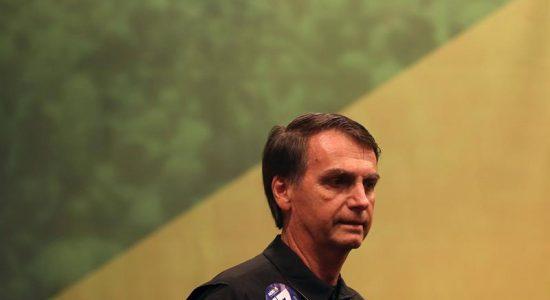 O candidato Jair Bolsonaro