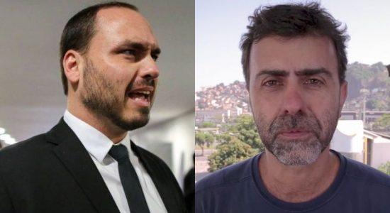 Carlos Bolsonaro e Marcelo Freixo