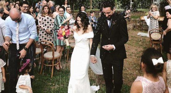 Glauce Cunha, esposa de Leonardo Gonçalves, é aprsesentadora de programa de música gospel