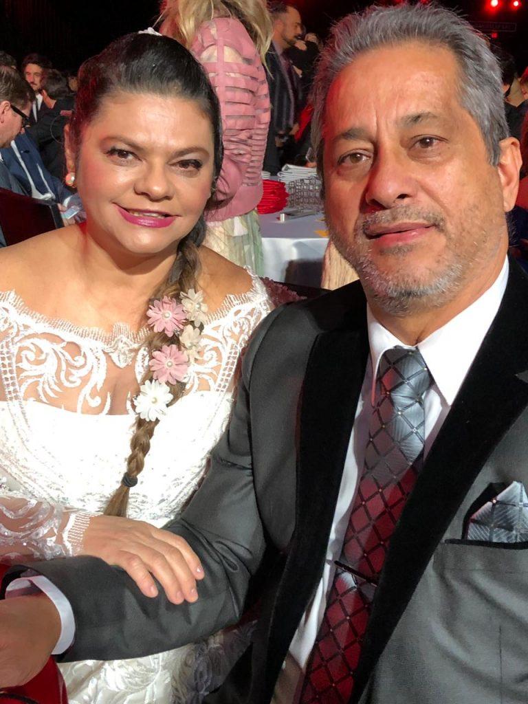Léa Mendonça e o esposo Sérgio Andrade