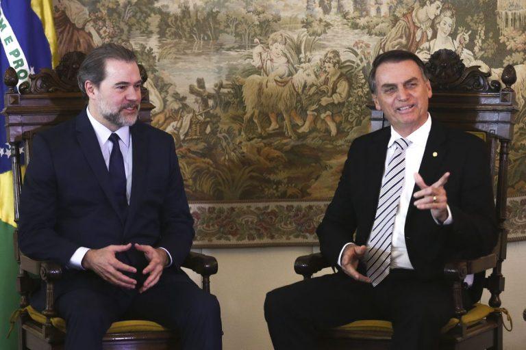 Jair Bolsonaro encontra com o presidente do STF, ministro Dias Toffoli
