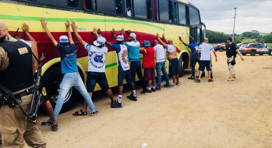Cerca de 40 torcedores do Cruzeiro foram para a delegacia