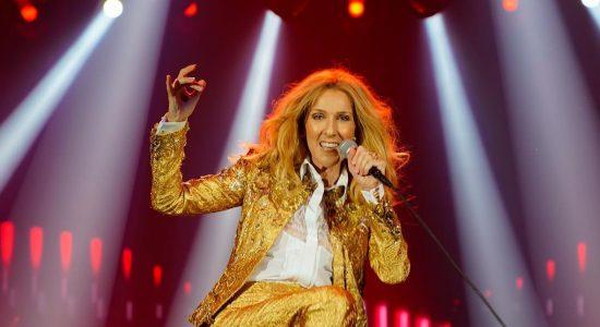 A cantora Céline Dion