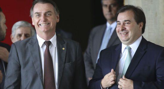 Jair Bolsonaro e Rodrigo Maia