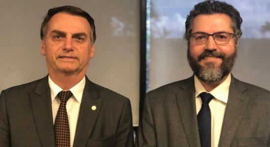 Jair Bolsonaro e Ernesto Araújo