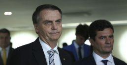 Presidente Jair Bolsonaro e ministro da Justiça, Sérgio Moro