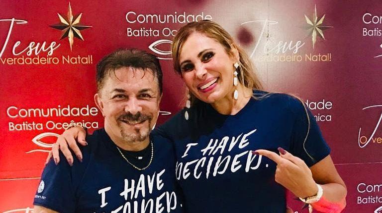 Ângela Bismarchi e marido