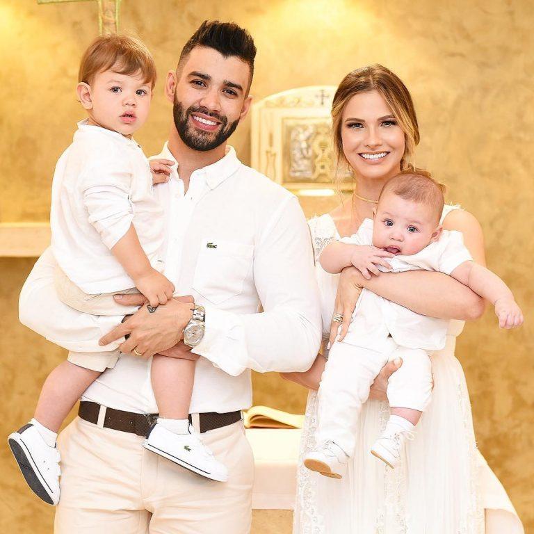 Gusttavo Lima e Andressa Suita batizam o filho, Samuel | Mulher | Pleno.News