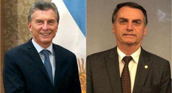 Maurício Macri e Jair Bolsonaro